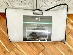 Wamsutta Collection King White Goose Down bed Pillow in White