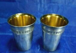 Antique Sterling Silver With Gold Wash Toothpick Holder 5.25 Troy Marked Peka