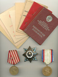 Soviet Russian Ussr Documented Group Of Surovov V.p. With Rare Variation Order