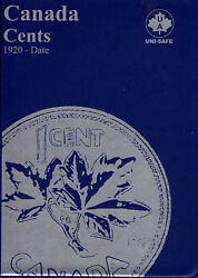 Set Of Canada Small Cents 1920-1972 In Uni-safe Folder 1c Penny
