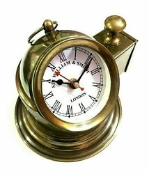 Clock Style Brass Nautical Vintage Table Watch Antique Desk Decor Wall Maritime