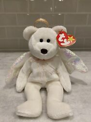 Ty Halo Beanie Baby - Retired - 1998 Vintage - Mint - Rare Brown Nose W/ Errors