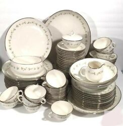 Noritake Cornelia China Service For 10 Plus Platters, Serving Bowls, And More