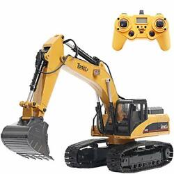 1580 114 Scale All Metal Rc Excavator Toy For Adults Remote Control Digger Con