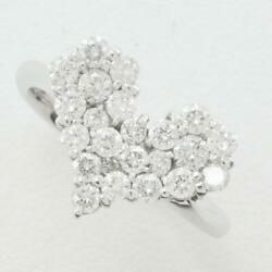 Jewelry 18k White Gold Ring 12 Size Diamond 1.00 About3.9g Free Shipping Used