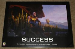 Sdcc 2018 Exclusive Avengers End Game Thanos Success Poster 26 X 18.5