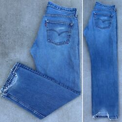 Vintage Levi's 501 Jeans Button Fly Made In Usa Size W38 L32 Measure 36 X 31 1/2