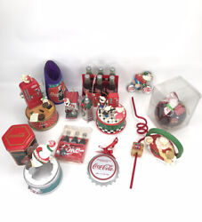 The Coca-cola Company Bundle Of 14 Collectible Ornament Musical Candle Items New