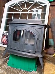 Vermont Castings Vigilant Wood Stove With Big Glass Door Inserts Great...