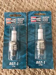 Four 4 New Champion Marine Spark Plugs L78c 807-1 Inboard Outboard Motor