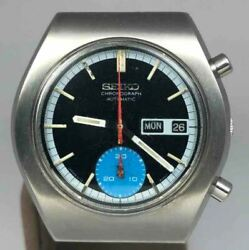 Vintage Seiko Chronograph 6139-8020 Menand039s Watch Auto Used Expedited Shipping