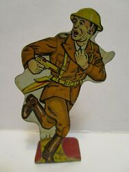 Vintage Tin Marx Soldiers Of Fortune Infantry First Lieutenant
