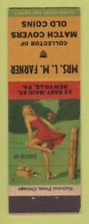 Matchbook Cover - Match Collector Lm Farner Newville Pa Pinup