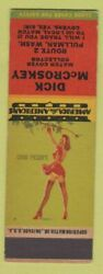 Matchbook Cover - Dick Mccroskey Match Collector Pullman Wa Pinup Sample