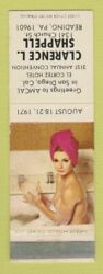 Matchbook Cover - Clarence Shappell Match Collector Reading Pa Pinup Wear