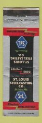 Matchbook Cover - St Louis Steel Casting Mo Wear