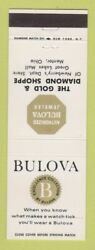 Matchbook Cover - Bulova Watches Jewelry Newberry's Department Store Mentor Oh