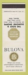 Matchbook Cover - Bulova Watches Gold Diamond Jewelry Mentor Oh 2