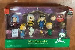 Peanuts Nativity Mini Figure Set Pageant Fold-out Christmas Stage Charlie Brown