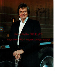 Johnny Cash Stagecoach Signed 1986 During Filming Of The Movie. Coa. Very Rare
