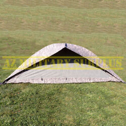 Us Military One Man Tent Improved Combat Shelter Wpoles Stakes Pouches Excellent