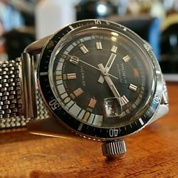 Wilhelm Stunning 37mm Diver Watch From 70and039s - Eta 2452 Just Overhauled