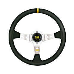 Omp Italy Corsica Silver Suede Steering Wheel Size Universal