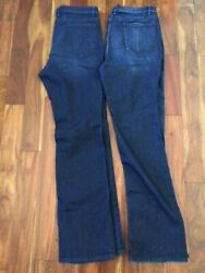 Nwot 2 Pair Nyandc Low Rise Bootcut Stretch Blue Jeans Women Size 16 Tall