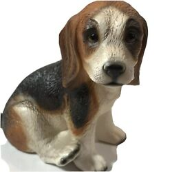 Vintage House Of Global Art Hand Painted Japan Beagle Dog Figurine Collectible