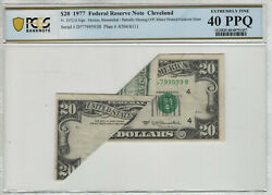 1977 20 Federal Reserve Note Huge Fold Over Error Note Pcgs B Ef Xf 40 Ppq