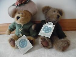 Boyds Bears Friends Collection Mr And Mrs Trumbull Collectible Teddy Bear Dressed