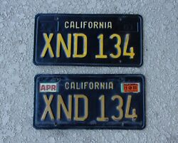 63 California License Plates Black And Yellow Front And Rear  Xnd 134