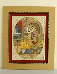 Miniature Portrait Of Mughal Emperor Shahjahan - Mughal Painting On Ivory Plate