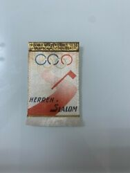 Official Badge Mens Slalom Competetion Olympic Games Garmisch 1936