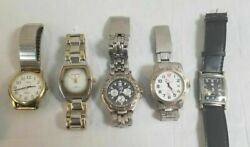 Lot Of 5 Mens Watches - Fossil, Hollywood, Marco Marx, Watch It, Timex Watch Lot