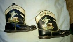 Vintage Roy Rogers And Trigger Child's Cowboy Boots Rare Style Bf Goodrich Soles