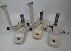 Lot 3x Reichert Xcel 200 Slit Lamp Base Pieces And 2x Microscope Arms Parts Lot