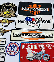 True Vintage Harley Davidson Patch Lot 1980's With Large Back Patches Rare
