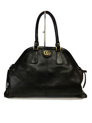 Rebelle Large Top Handle Bag Leather Black -new And Authentic