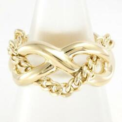 Jewelry 18k Yellow Gold Ring 12japan Size About9.7g Free Shipping Used