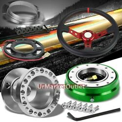 350mm Rd/rd Steering Wheel+sl Hub Adapter+gn Quick Release For Accord/prelude