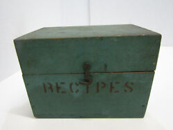 Old Wood-wooden Kitchen Recipe Box File Box Index Card
