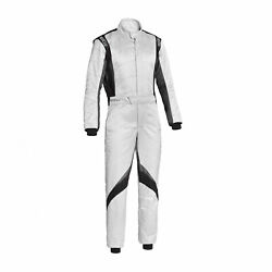 Sparco Italy Superspeed Rs-9 Racing Suit White Homologation Fia 56