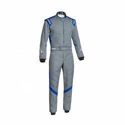 Sparco Italy Victory Rs-7 Racing Suit Grey/blue Homologation Fia 52