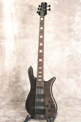 Used Spector Euro 5lxt Black Stain Gloss 5 String Bass Emg Pu W/ogb Free Ship