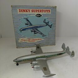 Dinky Toys 60c Lockheed Super Constellation, Air France, With Box Made In France