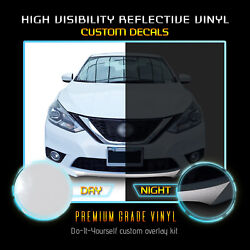 For 2016-2019 Nissan Sentra Front Bumper Lip Accent Decal Gloss Reflective Vinyl
