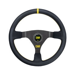 Omp Italy Wrc Leather Yellow Stitching Steering Wheel Wrc