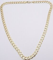 Heavy 9 Carat Gold Chain Necklace 34.8grams 21.5inch Long Yellow Gold Neck Chain