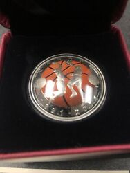 2016 Canada 125th Anniversary Of Basketball With Coa And Case 25 Fine Silver Coin